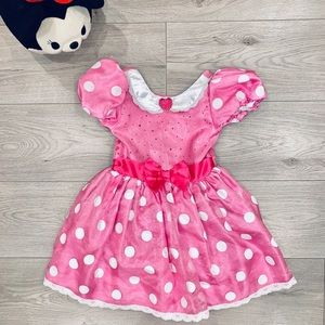 Disney Store Minnie Mouse Pink Costume Dress